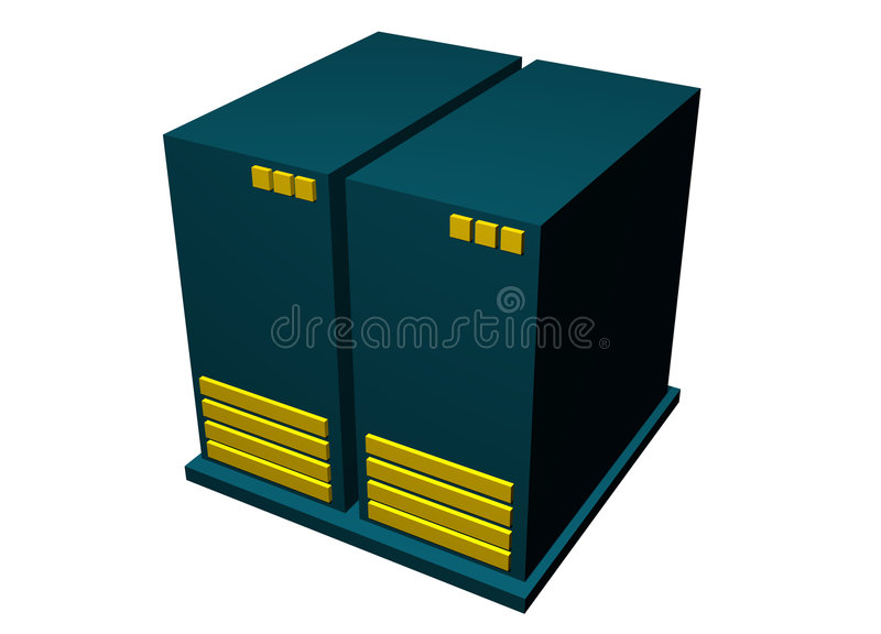 艺术夹子计算机图标查出服务器 皇族释放例证