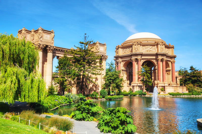 艺术宫殿在旧金山 免版税库存图片