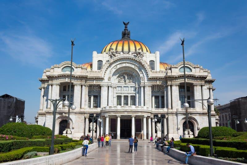 艺术宫殿-墨西哥城 免版税库存照片