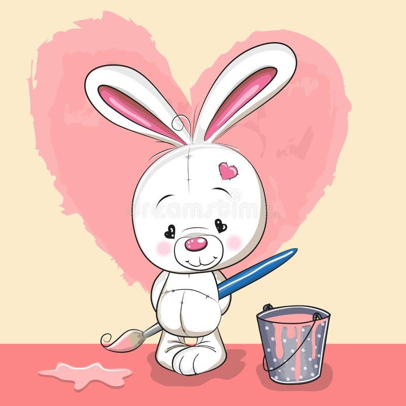 艺术家兔子 向量例证