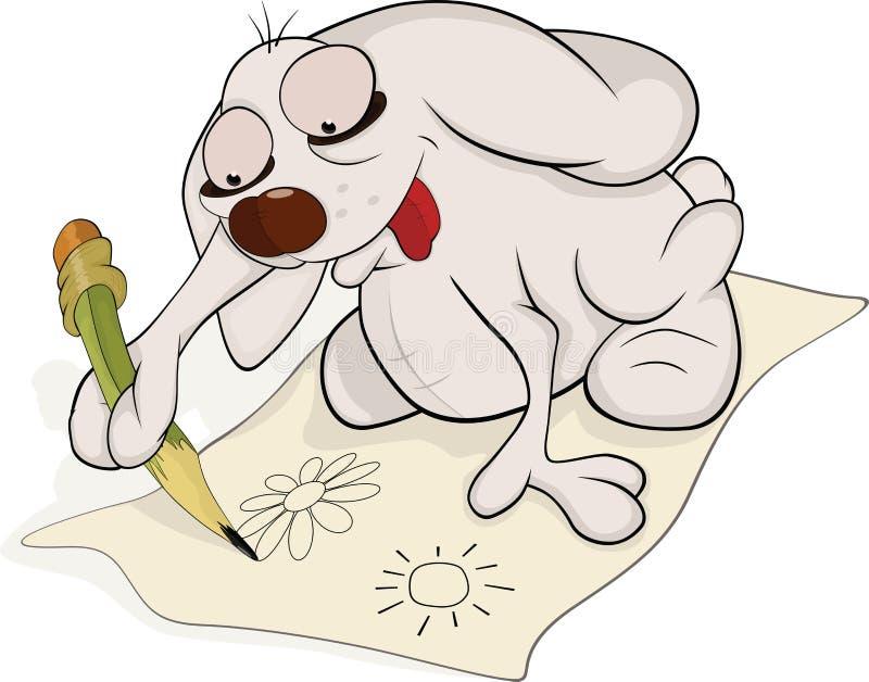 艺术家动画片兔子 库存例证