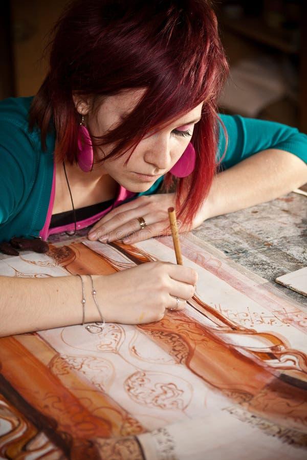 艺术家女性年轻人 图库摄影