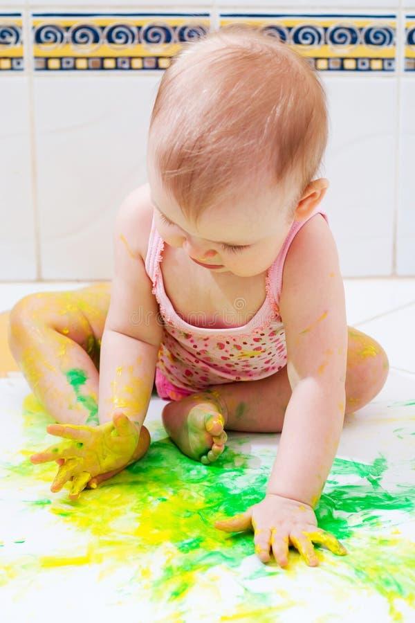 艺术家婴孩 库存照片