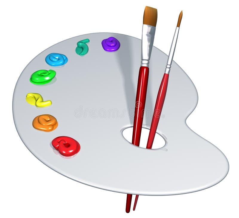 艺术家查出的调色板 向量例证