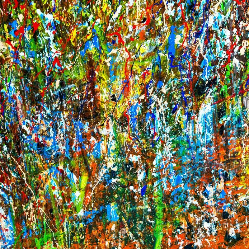 艺术家油画调色板 免版税库存图片