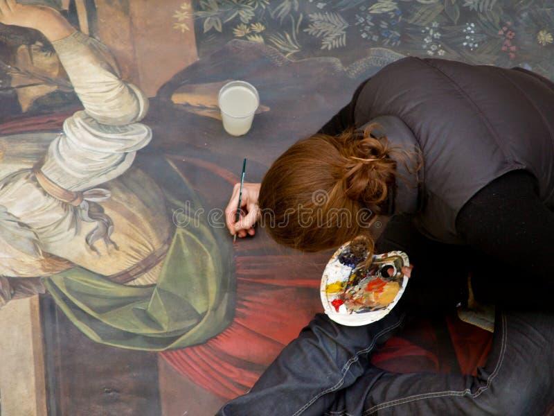 艺术家画家街道 免版税图库摄影