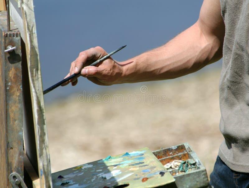 艺术家画笔现有量s 免版税库存照片