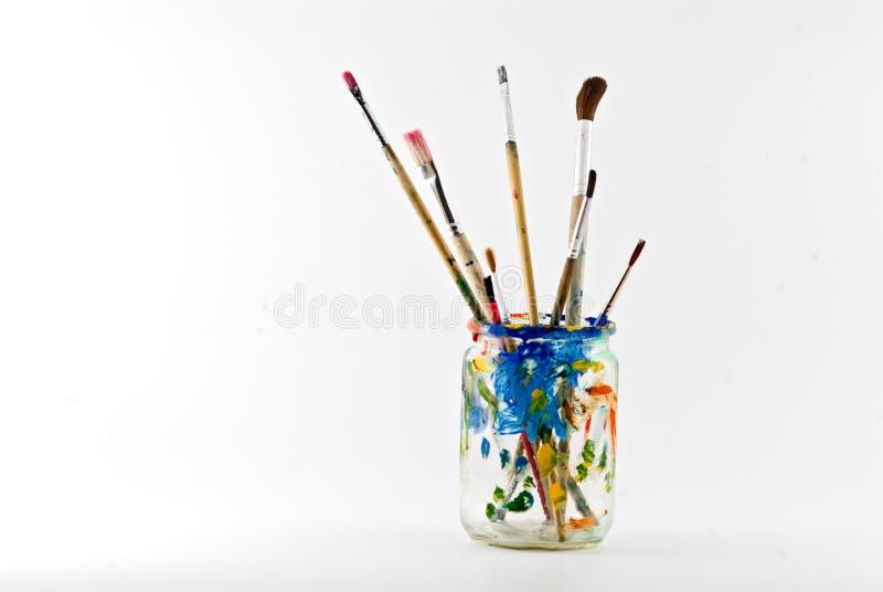 艺术家画笔 免版税库存照片