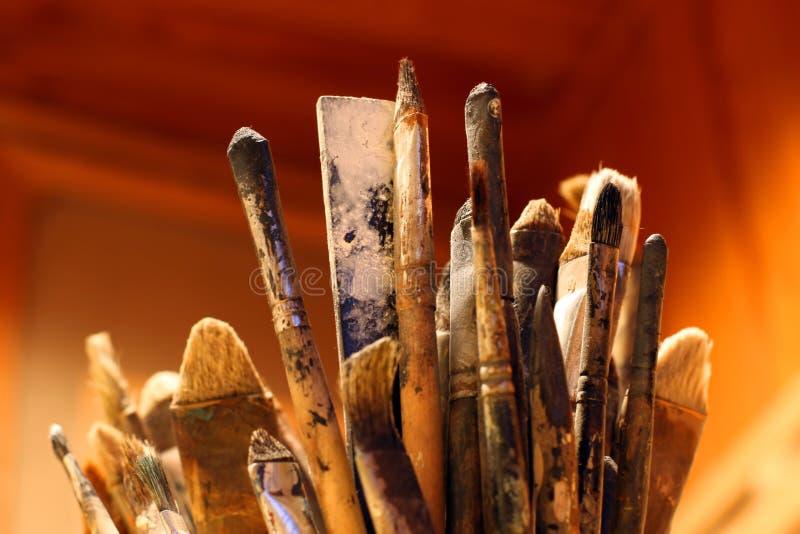 艺术家画笔 免版税库存图片