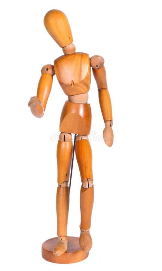 艺术家的被联接的木人形象, 免版税图库摄影