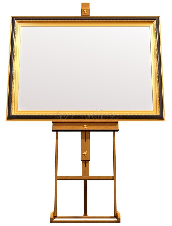 艺术家空白画架照片 皇族释放例证