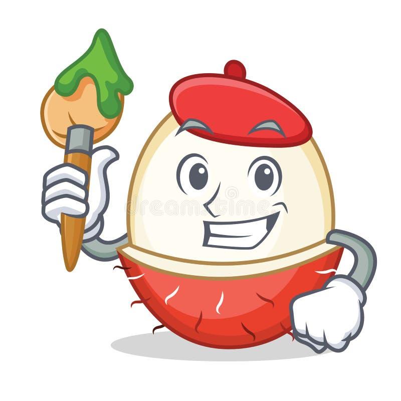 艺术家红毛丹字符动画片样式 皇族释放例证