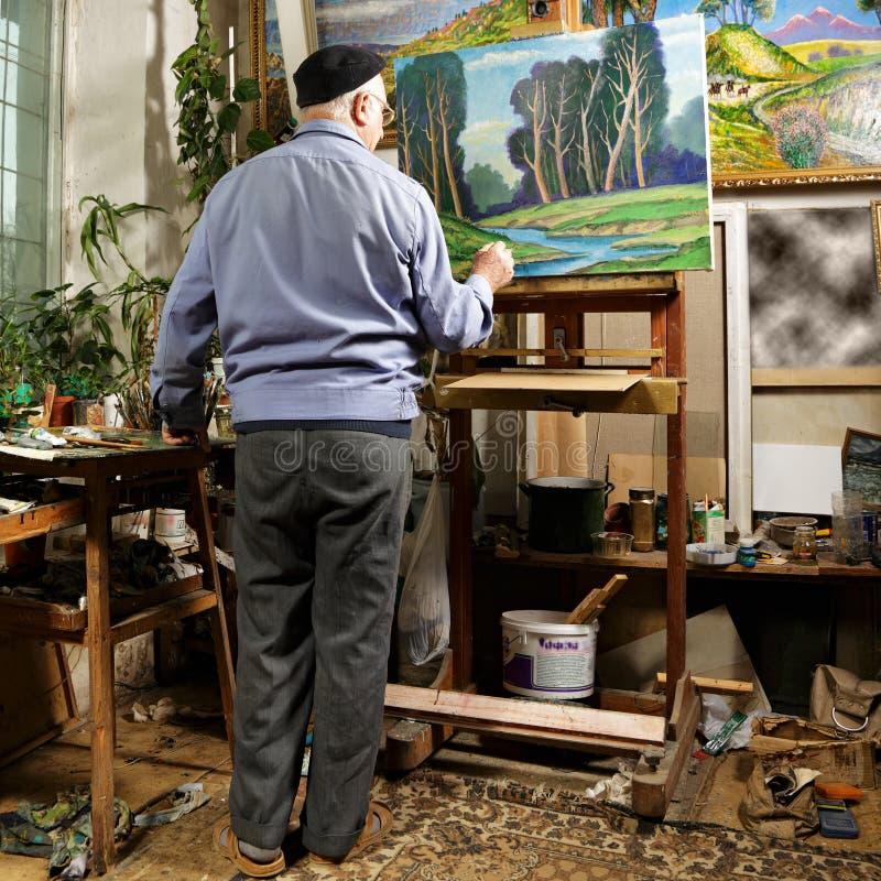 艺术家绘画 库存照片