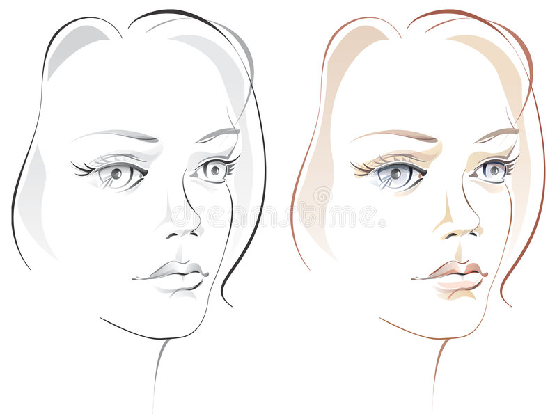 艺术家美丽的表面女孩s 向量例证