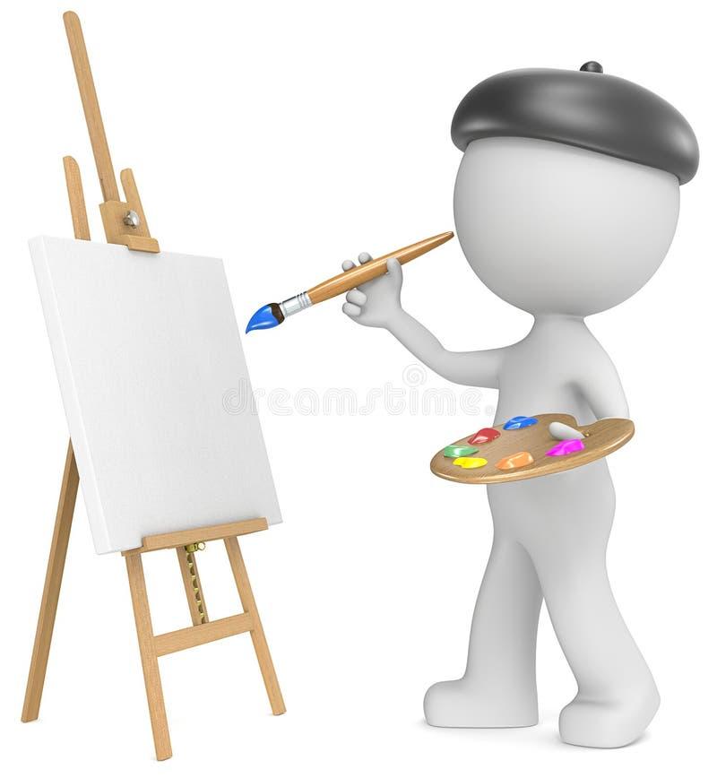 艺术家 库存例证