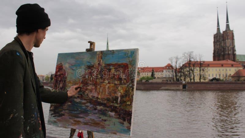 艺术家画 免版税库存图片