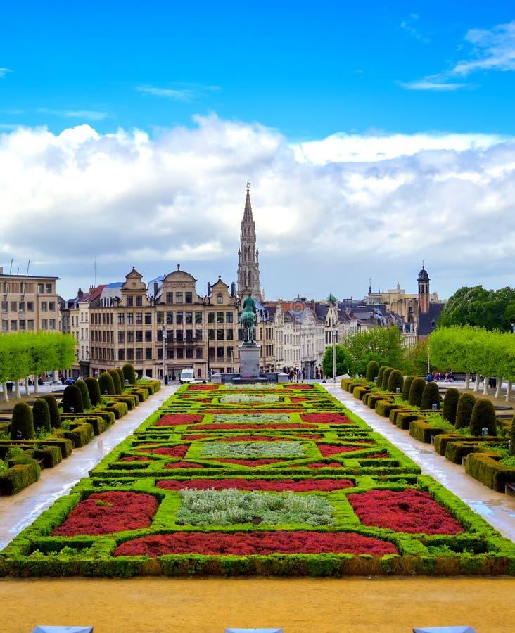 艺术山在布鲁塞尔,比利时 免版税库存图片