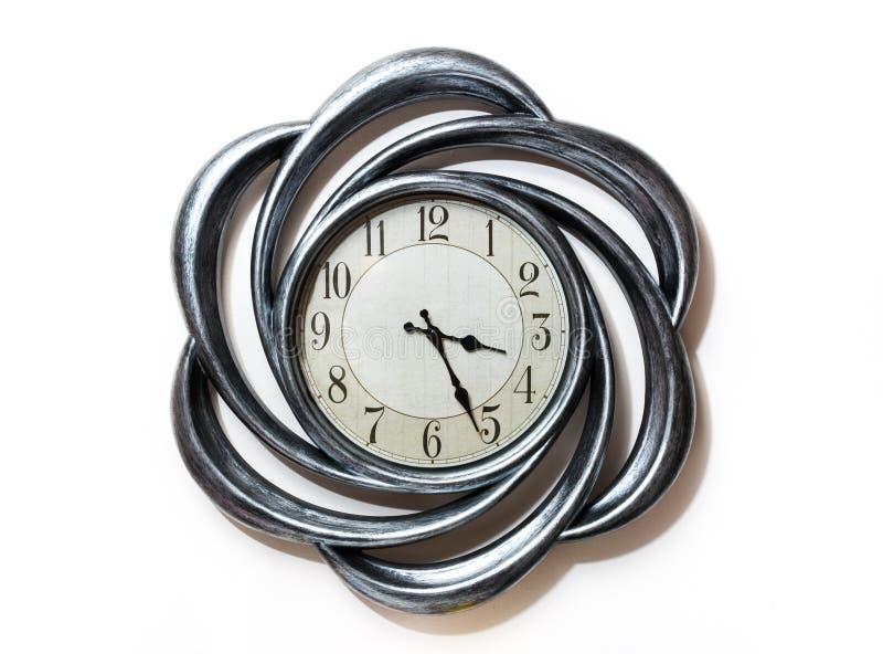 艺术形状时钟 圈子时钟 库存图片