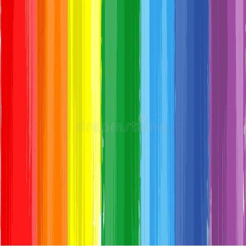 艺术彩虹颜色油漆飞溅传染媒介背景 皇族释放例证