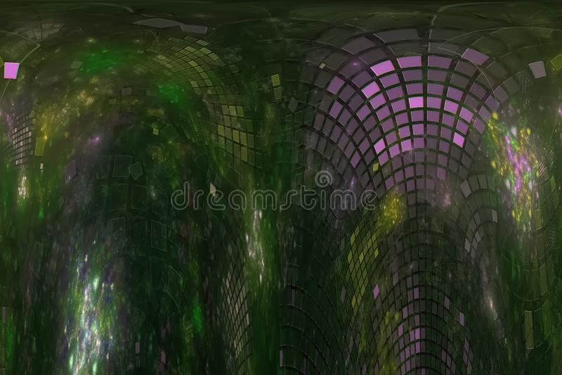 艺术性摘要数字意想不到的分数维现代波浪充满活力的混乱幻想的设计,发光 库存例证