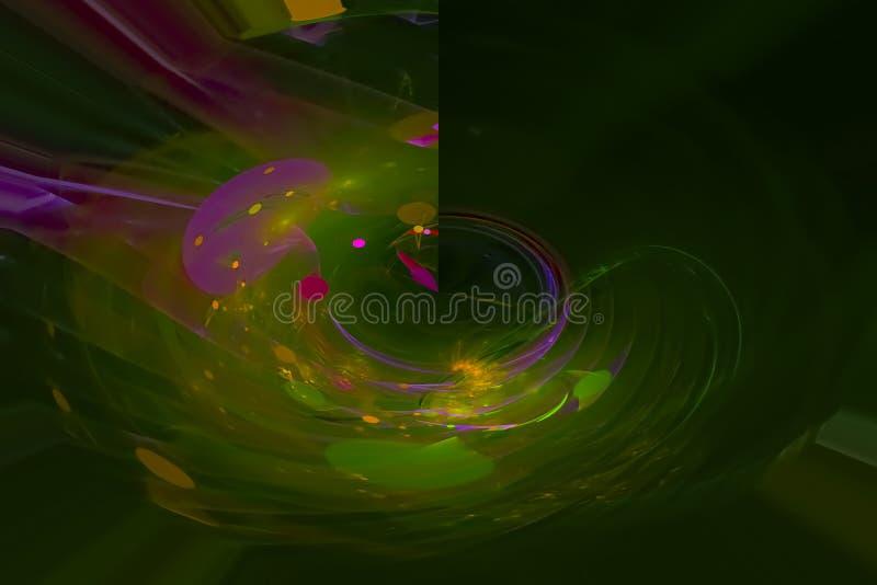 艺术性摘要数字意想不到的概念分数维现代波浪充满活力的混乱幻想的设计,发光 向量例证