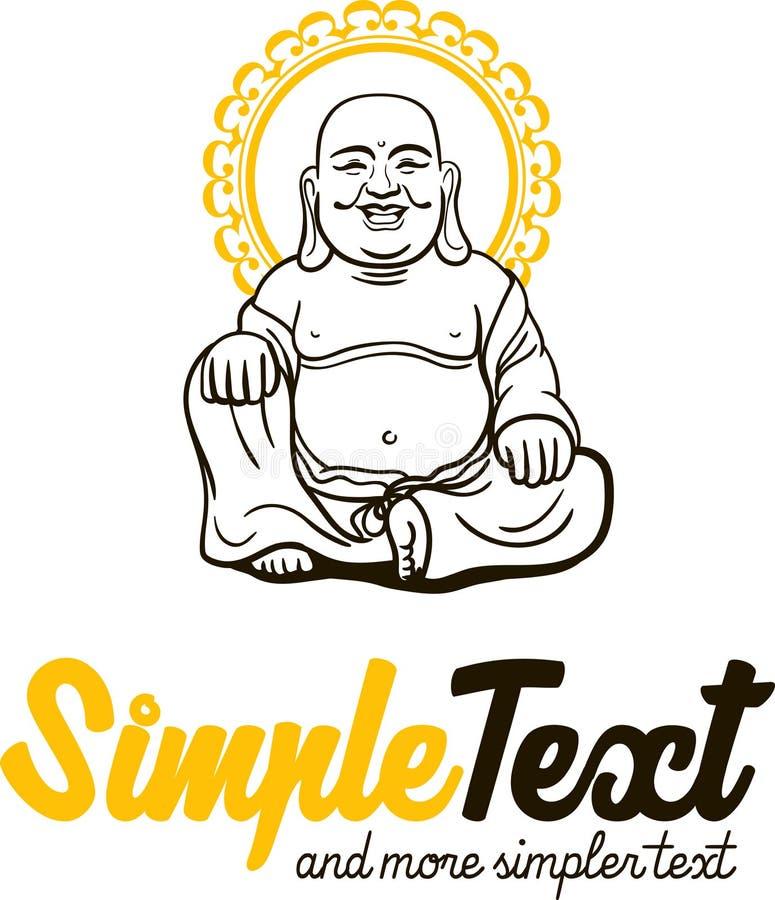 艺术性的传统佛教中国的模式 向量例证