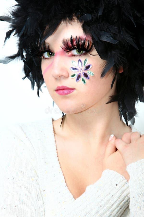 艺术性的化妆用品 免版税库存图片