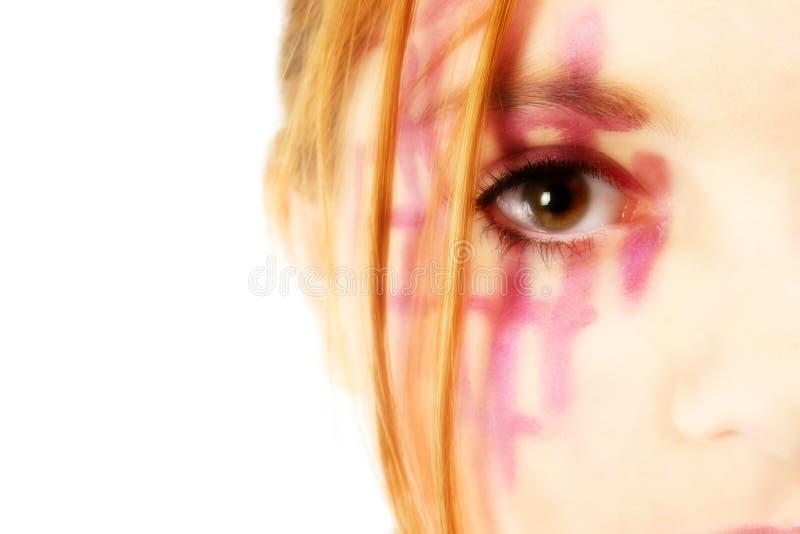艺术性的化妆用品 库存照片