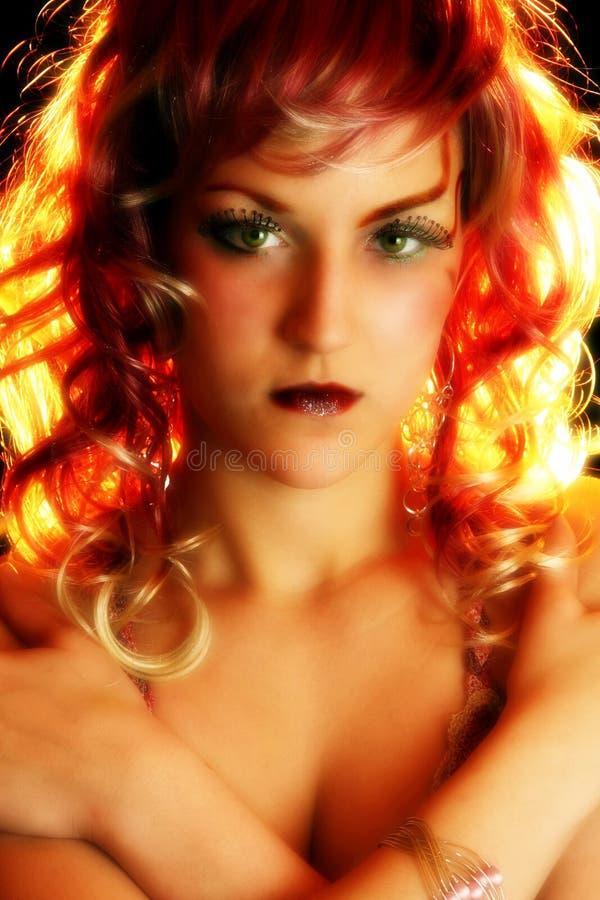 艺术性的化妆用品 免版税库存照片