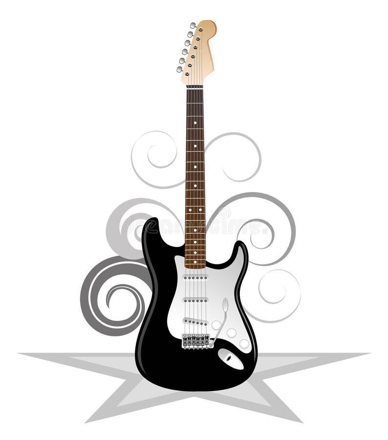 艺术性的吉他 向量例证