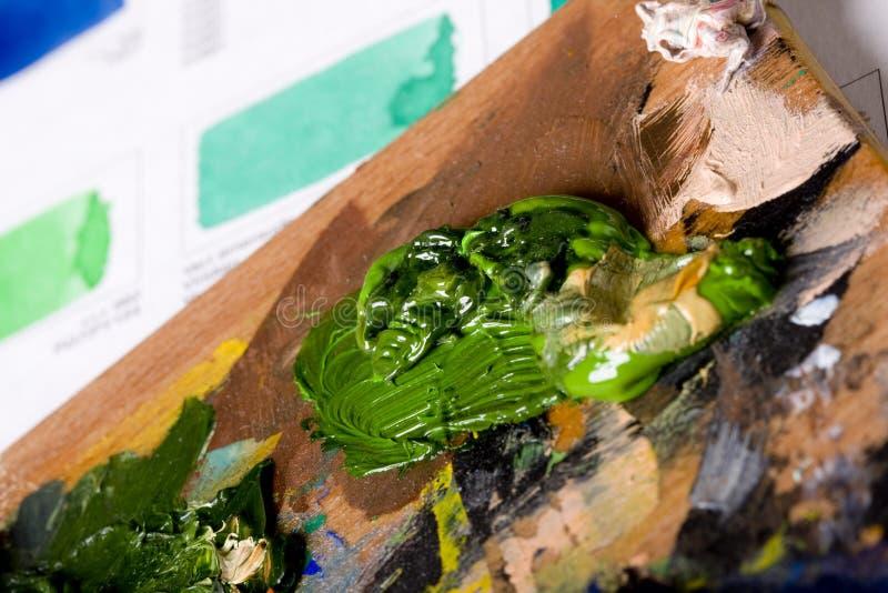 艺术性的图表颜色油漆 库存图片