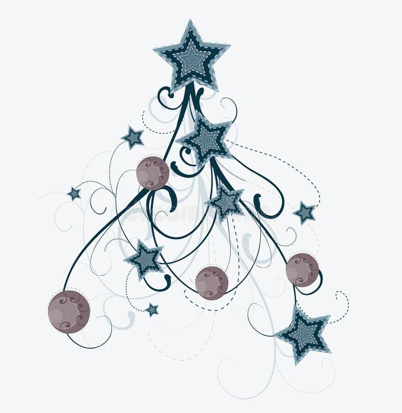 艺术性的圣诞树 库存例证