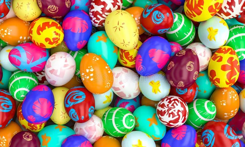 艺术性的复活节彩蛋 库存照片