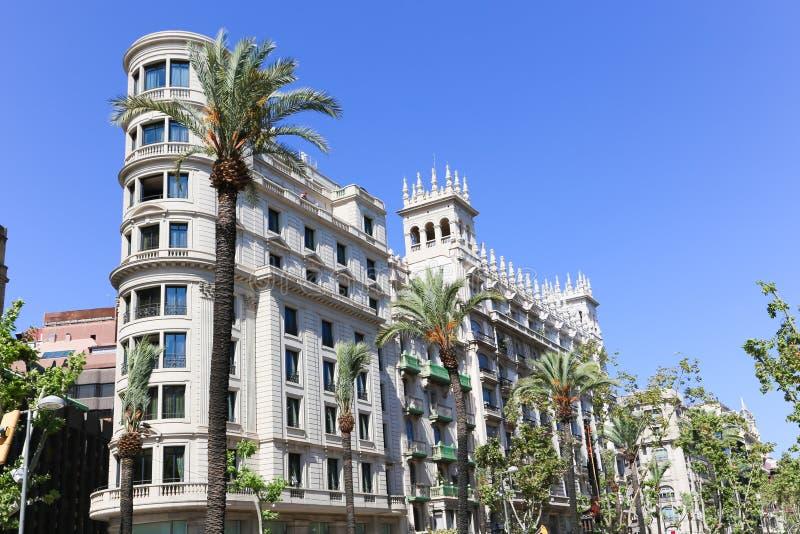 艺术性的大厦,巴塞罗那 库存照片