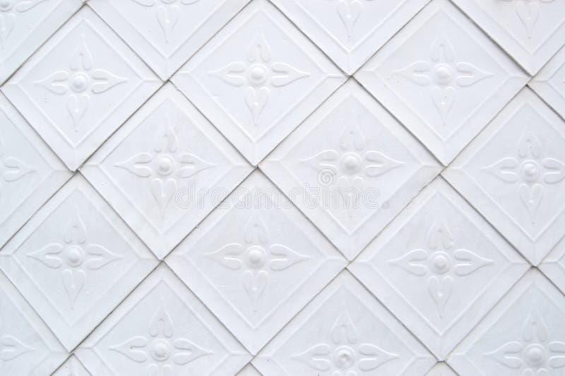 艺术性的模式瓦片白色 免版税图库摄影