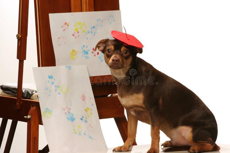 艺术性的狗 库存照片