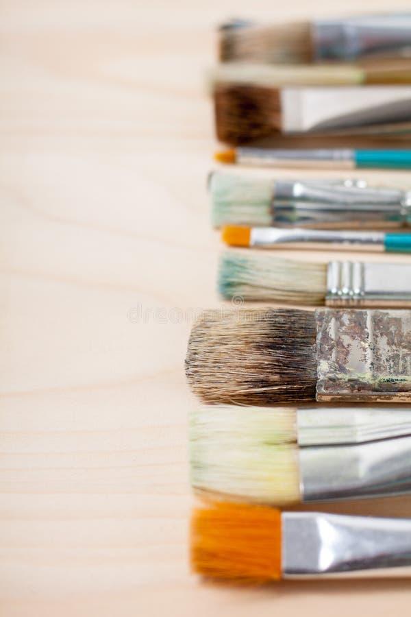 艺术性的画笔油漆 库存照片