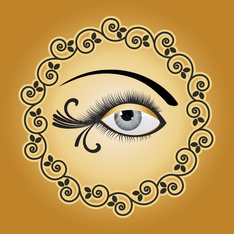 艺术性的眼睛 向量例证