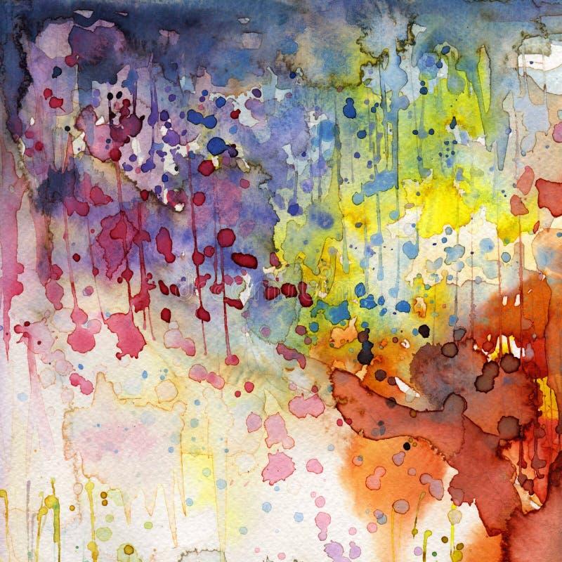 艺术性的背景水彩 向量例证