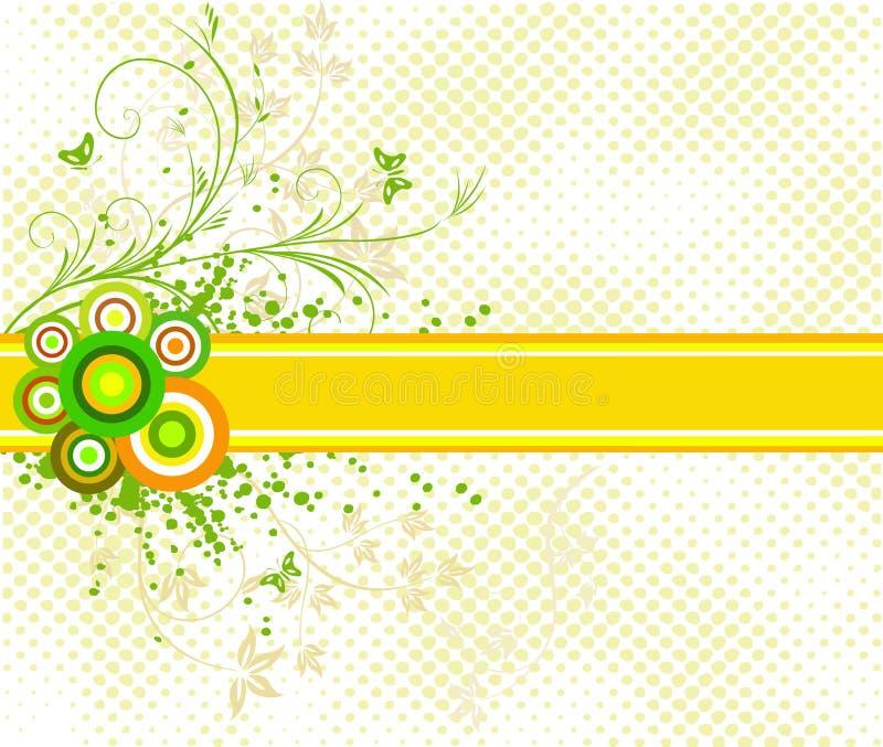 艺术性的背景设计花卉向量 库存例证
