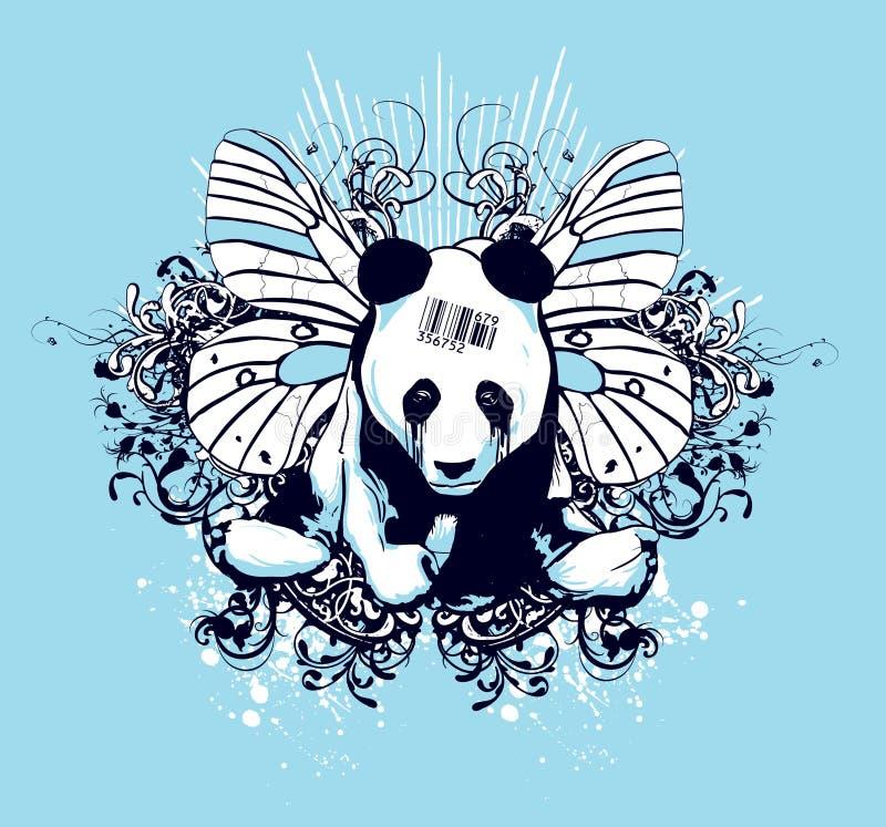 艺术性的设计熊猫 免版税库存图片