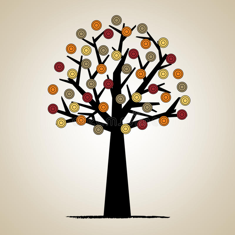 艺术性的设计结构树 向量例证