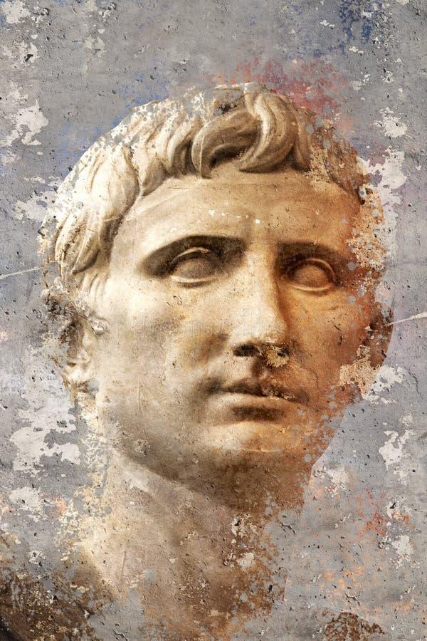 艺术性的画象有织地不很细背景,古典希腊语scul 库存照片