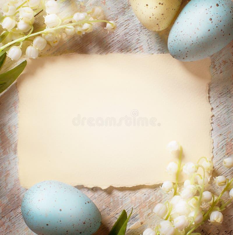 艺术愉快的复活节卡片 库存照片