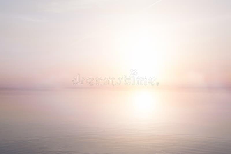 艺术抽象轻的海夏天背景 库存照片