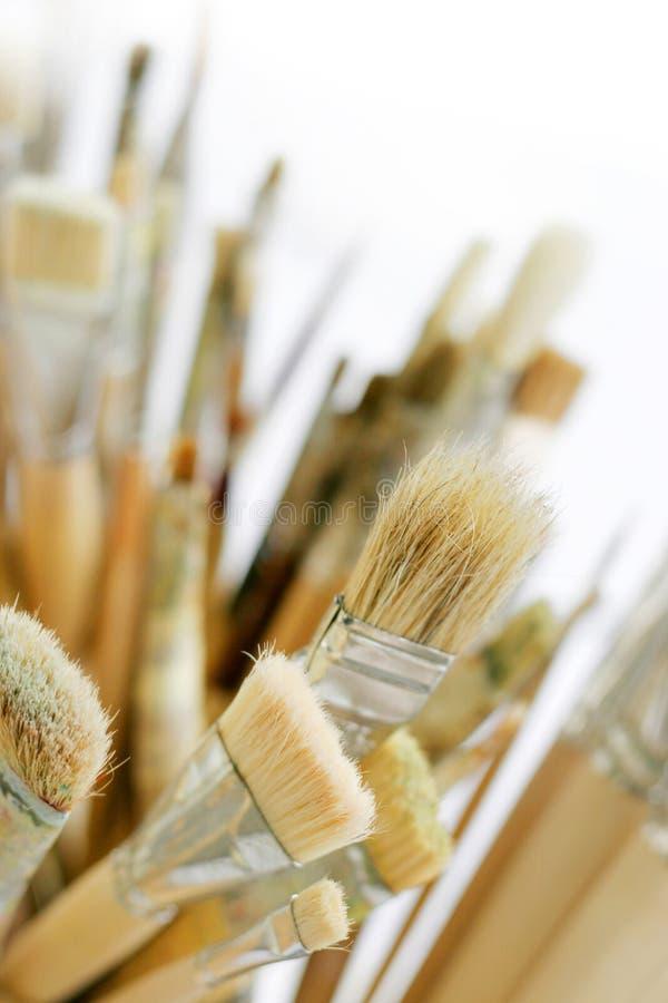 艺术掠过油漆 免版税库存图片