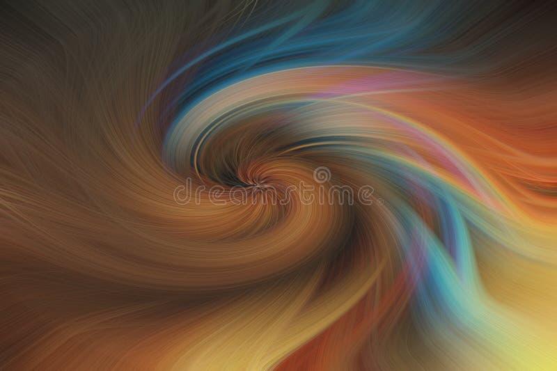 艺术摘要背景 多色的漩涡样式 图库摄影