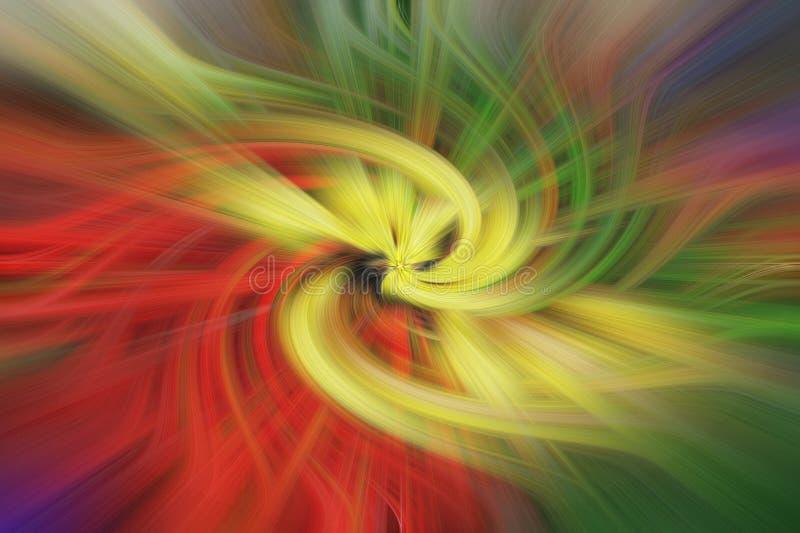 艺术摘要背景 多色的漩涡 免版税图库摄影