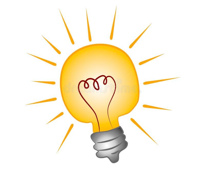 艺术明亮的夹子电灯泡 向量例证