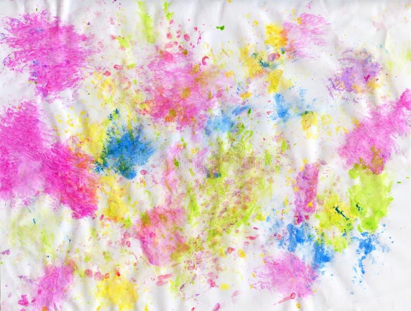 艺术杰作 抽象油画 人工绘的画 不同的颜色绘画的技巧  皇族释放例证